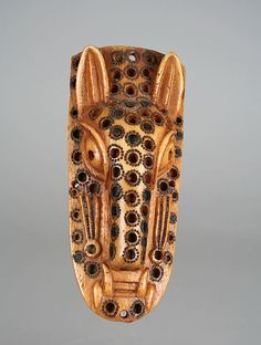 Africa | Masquerade Element: Leopard Head (Omama) | 17th–19th century | Nigeria Culture: Yoruba peoples, Owo group | Medium: Ivory, wood or coconut shell