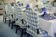 Blue-and-White-Color-Dining-Room-Chair-Slipcovers
