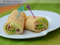 Sajtos-sonkás palacsinta Fresh Rolls, Oreo, Pancakes, Ketchup, Tacos, Mexican, Ethnic Recipes, Food, Essen