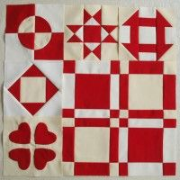 Red and white quilt #quilt #blanket