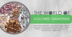 Most diamonds are colourless to light yellow, but some have a very distinct colour from browns to reds and blue! These are called fancy-coloured diamonds. Coloured Diamonds, Type 1, Dog Food Recipes, Red And Blue, Minerals, Rest, Fancy, Jewels, Gemstones
