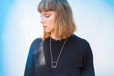 Composition Necklace: Open Shield, Natural - Kate Miss