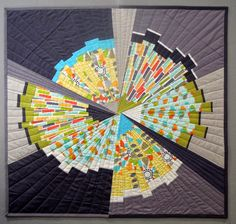 Terry from Terry Aske Art Quilt Studio made this beautiful quilt Geometric Patterns, Quilt Patterns, Scrappy Quilts, Mini Quilts, Gray Quilts, Quilting Projects, Quilting Designs, Quilting Ideas, Sewing Projects