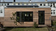 The Minim House is a trailer-based micro-home with 19.5 sq m (210 sq ft) of space that is capable of operating on or off-grid thanks to an optional compostable toilet and 960 W roof solar array with integrated battery storage system.