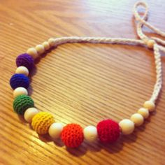 Rainbow necklace small  All natural by JudeBugBoutique on Etsy, $22.00
