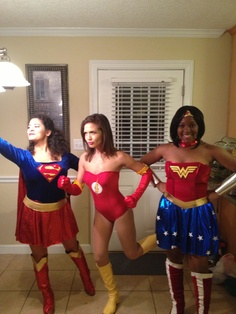 I made my Flash costume! We were the Justice League of America! :)
