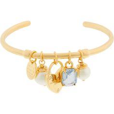 Henri Bendel Duchess Charm Cuff (6.255 RUB) via Polyvore featuring jewelry, bracelets, henri bendel, charm jewelry, henri bendel bangle, cuff bangle и charm bangles