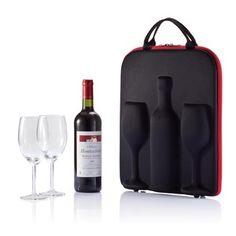Tragetasche für Wein und 2 Gläser