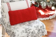 Re-Purposed Sweater Pillows - Tidbits