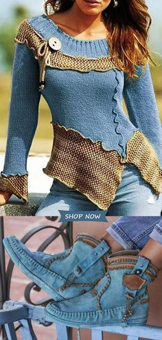 Women's Casual Sweaters&Boots Outfits On Sale.Hot Style√ Plus Size√ Good Quality√ Comfy√Shop now! Mode Outfits, Casual Outfits, Women's Casual, Vetement Hippie Chic, Look Fashion, Womens Fashion, Fashion Trends, 80s Fashion, Vintage Fashion