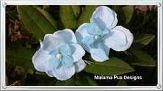 BRIDAL HAIR FLOWER  Light Blue Silk Flower Clip by MalamaPua