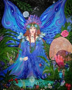 ≍ Nature's Fairy Nymphs ≍ magical elves, sprites, pixies and winged woodland faeries - Christine Von Lossberg ~