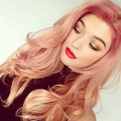 Rose gold hair, cannot stop thinking about this haircolor