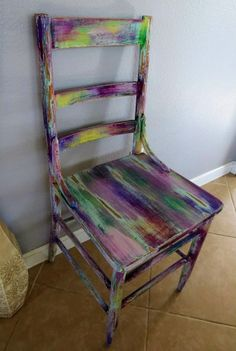 Yellow Distressed Chair | Redone/upcycled | Pinterest | Distressed Furniture