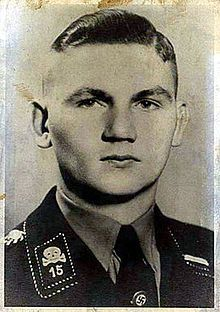 """Walter Gerhard Martin Sommer (February 8, 1915 - June 7, 1988) was an SS Hauptscharführer (master sergeant) who served as a guard at the concentration camps of Dachau and Buchenwald. Sommer, known as the """"Hangman of Buchenwald"""" was considered a depraved sadist who reportedly ordered two Austrian priests, Otto Neururer and Mathias Spannlang, crucified upside-down."""