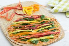 Slow-Roasted Tomato & Basil Hummus + Veggie Hummus Wraps | @Oh My Veggies