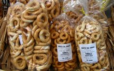 Taralli Pugliesi , A traditional Puglia bread biscuit , really good to snack on!! Normally in Puglia you find them fresh made :)
