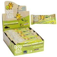 Don't Go Nuts Nut-Free Organic Snack Bars, Gorilla Power, Chocolate Chip Granola, 12 Count