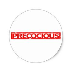 Precocious Stamp Classic Round Sticker - fun gifts funny diy customize personal