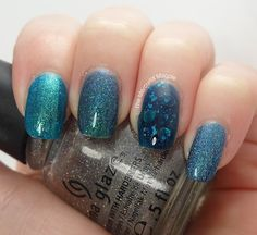 The Mercurial Magpie - Nail Art - Underwater Skittles with Mermaid Stamping