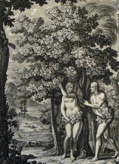 The Phillip Medhurst Picture Torah 20. Adam & Eve clothe themselves. Genesis cap 3 v 7. Sperling