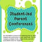($) A guide to implementing student-led conferences. Student­‐led conferences are preplanned meetings that are run by students and are ideally held periodically throughout a term. Here is an informative resource to help you get started with usign student-led conferences in your classroom.