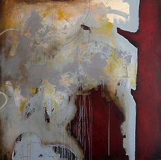 Urban Forest, 2013  mixed media on canvas  77 x 77 inches