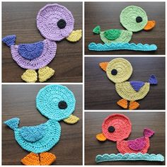 Crochet duck applique