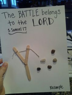 David and Goliath craft