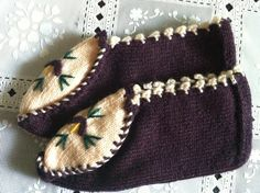 Knitting Women Room Shoes Slippers Bootee Usa by zahraknitting, $15.90