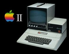 Apple II...I'm pretty sure this is the computer we used in grade school. We played Oregon Trail on it.
