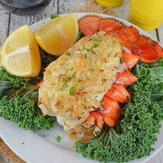 Crab Stuffed Lobster Tails is the ideal dinner for a special occasion. You won't beleive how easy they are to make! Crab Stuffed Lobster Tails is the ideal dinner for a special occasion. You won't beleive how easy they are to make! Baked Stuffed Lobster, Baked Lobster Tails, Broiled Lobster Tails Recipe, Grilled Lobster, Crab Stuffed Lobster Tail Recipe, Lobster Escargot Recipe, Crab Stuffed Shrimp, Lobster Rolls, Shellfish Recipes