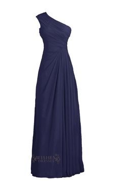 Look charming at your prom, bridal party in this stunning long chiffon dress,one strap with ruched bodice and zipper back.knee length is also available. Neckline:One-shoulder Length:Floor length Detai