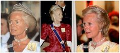 The Duchess of Kent wearing the Diamond & Pearl Tiara