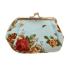 Naivety Hasp Coin Purse New Women Retro Small Wallet Lady Vintage Flower Clutch Bag Good Floral Gift Bags JUL28 drop shipping