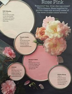 Sweet pink hues for your rooms