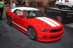 Awesome Red Mustang from the #Ford booth at SEMA 2010