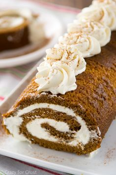 Gingerbread Cake Roll filled with Eggnog Whipped Cream - perfect for ...
