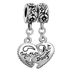 Pugster Heart Mother & Daughter Beads Fit Pandora Chamilia Biagi Charm Bracelet Pugster, http://www.amazon.com/gp/product/B002ADM5LW?ie=UTF8=213733=393177=B002ADM5LW=shr=abacusonlines-20 via @amazon