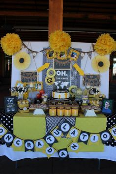 """www.charmingtouchparties.com (c) Charming Touch Parties 2013 """"Oh The Places HE'LL Go"""" College graduation party"""