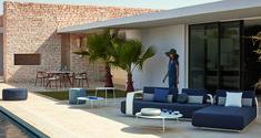 Manutti // This patio sofa set breathes comfort and panache - Kumo Collection - Mood Collection Outdoor Sofa Sets, Outdoor Furniture, Outdoor Decor, Modular Sofa, Sofa Design, Concept, Patio, Mood, Luxury