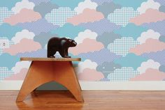 Gorgeous wallpaper accent wall from @Aimee Wilder - perfect for the #nursery!