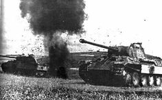 Panthers under attack by GLORY. The largest archive of german WWII images, via Flickr