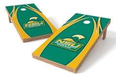 Norfolk State Spartans Cornhole Board Set - The Edge (w/Bluetooth Speakers)