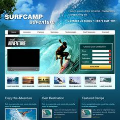 SURF TRAVEL  WEBSITE  (1ST,2ND,3RD AND  4TH PRIZES)