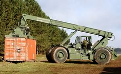 Forklift - Critical to military logistics! Armored Fighting Vehicle, Heavy Machinery, Stapler, Car Wheels, Lifted Trucks, Heavy Equipment, Military Vehicles, Offroad, Tractors