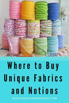 Finding Unique Fabric and Notions can be a challenge. Not many local stores carry lace and searching online can take a ton of time. What if you want to add a bit of leather to a sewing project or need the perfect zipper for a bag? From Leather to Lace this list of Unique Fabrics and Notions has the answer.