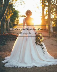 top 20 wedding dresses with long lace sleeves 2015