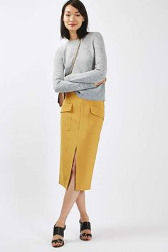 Split Midi Skirt - Skirts - Clothing - Topshop