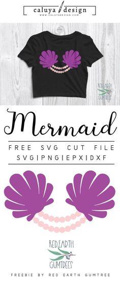 Ideas Diy Crafts Clothes Free Printable For 2019 Diy Arts And Crafts, Diy Craft Projects, Diy Crafts, Vinyl Projects, Mermaid Shell, Mermaid Bra, Mermaid Kisses, Cricut Vinyl, Vinyl Decals